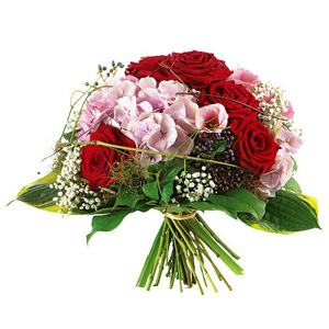Bouquet rose e ortensia